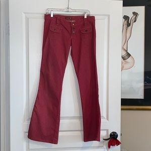 Frankie B red pinstripe jeans size large
